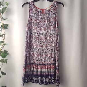 Umgee sleeveless boho print sheath size S